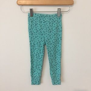 Gap pajama pants turquoise with black stars 2T
